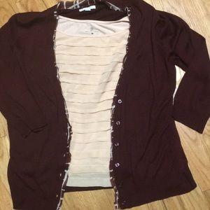 SOFT!! NY&Co camisole/cardigan set XL